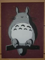 Totoro stencil 2 - for sale by moon-glaze