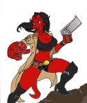 female hellboy by dieautobot