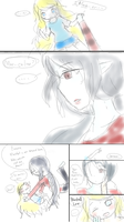 Marcy and Fionna doodle comic by MakotoZhen
