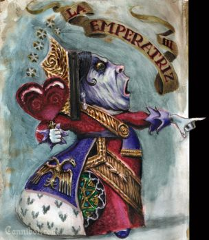 empress alice tarot watercolor by cannibol