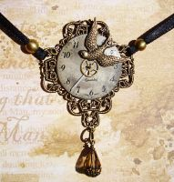 Steampunk Swift Pendant by LaOubliette