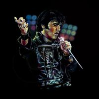 ELVIS in colored pencil by hdtimmons