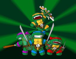 TeenyTiny Mutant Ninja Turtles by Sachmoe64