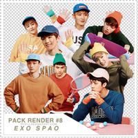[PACK RENDER#8] EXO - SPAO by DTD12