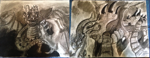 Dragon before and after midterm by IsaacChamplain