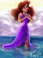 Ariel- colouring book page by Fidi-s-Art
