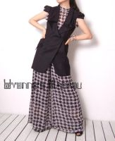 Black White Checked Jumpsuit 7 by yystudio
