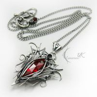 ENILHRTURM - red quartz and garnet by LUNARIEEN