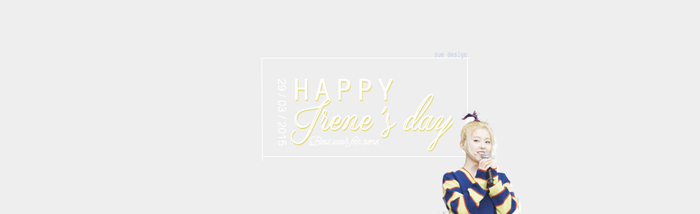290315 - Simple quote - Happy birthday to Irene ! by SueDesigner