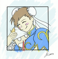 Chun Li and Fan by farfanougen