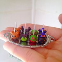 Halloween Disney Candy Apples by TheMicroBakery