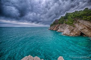 Petrovac Seaside (minus town) by A101Photography