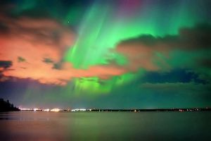 Auroras over Marks Bay by tfavretto