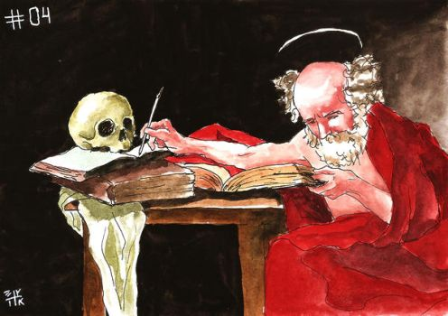 Saint Jerome Writing by ErikReis