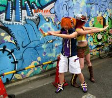 Twewy Cosplay -- Udagawa Mural by Tacotits