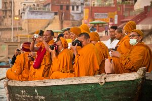 Monks with Cameras by f-i-g-m-e-n-t