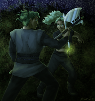 Bringing a Sword to an Axe Fight by ErinPtah