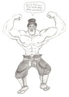 Sir Muscle Sketch by Naryx