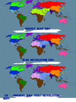 Worldbuilding Map: Pre-, Peri- and Post-Revolution by DataPacRat