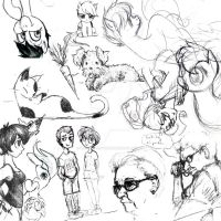 Sketch Dump from EverfreeNW by what-Nancy-drew