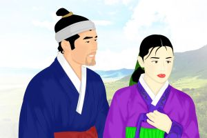 Traditional Korean Couple by ArsalanKhanArtist