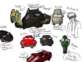 Knight Rider and Cars by TTSnim
