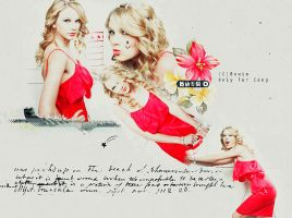 taylor swift in red by letschill