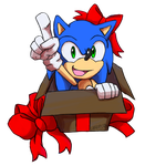 Merry Christmas from the blue Hedgehog by Metal-CosxArt