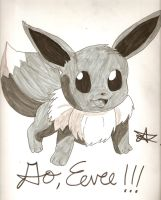 Go, Eevee!!!!! by ArtsMermaid