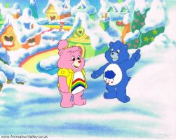 Original Hand Painted Care Bear production cel by AnimationValley