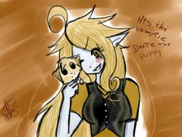MT (emty) vampire and Dante the puppy by teresastrawberry