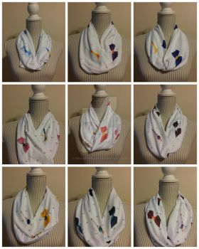 Senshi Infinity Scarves by inaligrimalkin