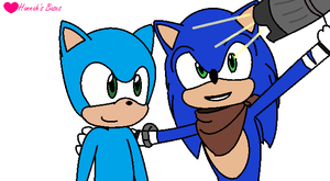 Base 56 - Selfie with Sonic Collab base (Male) by XHannahTheHedgehogX