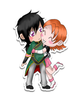 RWBY: Nora x Ren Sticker by AliAvian