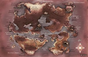 Fantasy world map by ursula-in-norway