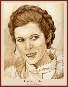 Carrie Fisher as Leia Organa by strryeyedreamr27