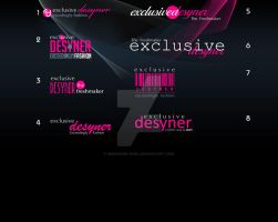 exclusivdesyner logo samples by Gayab