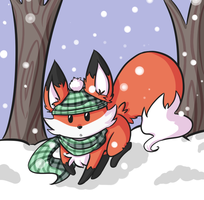 Winter Fox by HaruKitsu