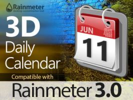 3D Daily Calendar for Rainmeter 3 by sa3er