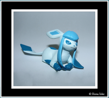 Glaceon from the Tomy Eevee Collection by Ilona-the-Sinister