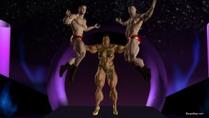 Phenomenal muscled woman's show 32 by eurysthee