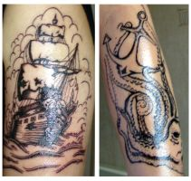 Pirate Ship On Skin by KirstySuzanne