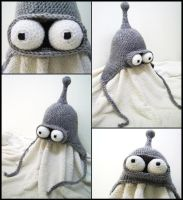 Bender earflap hat by argentinian-queen