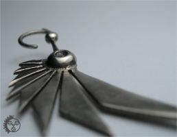 Polished Bladewing Earrings 2 by improbablecog
