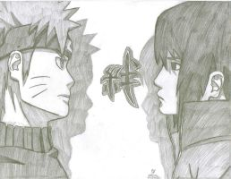 Naruto and Sasuke by AnimePortraits