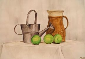 Still Life with limes by kielymb