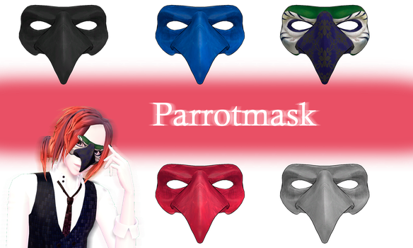 [MMD] Parrotmask DL by JoanAgnes
