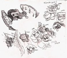 Kirby OCs by ThaBrokenSword