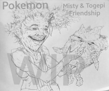 Pokemon Misty  Togepi friendship sketch by NM8R-KJC