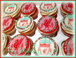 Liverpool FC Cupcakes by gertygetsgangster